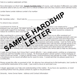 how to write a hardship letter for home loan modification When applying for a home loan modification, a key component of the application is the hardship letter, the homeowners' description of the financial setbacks they've experienced that resulted in their inability to pay their monthly mortgage recognizing eligible hardships not everything qualifies as a bona fide financial hardship.